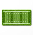 green grass american football field vector image