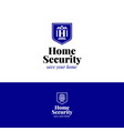 house security logo home insurance symbol vector image