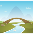 Landscape With Stone Bridge vector image