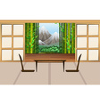 Living room in japanese style vector image