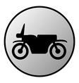 Motorcycle button vector image