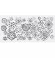 Sacred geometry mandalas background vector image