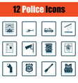 Set of police icons vector image