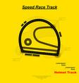speed helmet race vector image