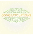 vintage Congratulations card vector image