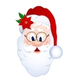 Cartoon Santa Claus head vector image