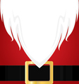 Christmas Santa Claus white Beard Red shirt and vector image