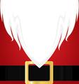 Christmas Santa Claus white Beard Red shirt and vector image