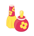 Toy perfume bottles vector image vector image