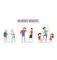 Families Couples Hilarious Moments Cartoon Set vector image