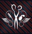 symbol a barber shop for men vector image vector image