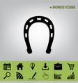 horseshoe sign   black icon at vector image