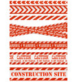 work line under construction site and red and vector image