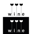 wine sign vector image vector image
