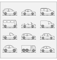 Cars Icons vector image vector image