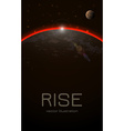 Abstract Realistic Space Sunset Background vector image