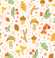 Colorful autumn treasures pattern vector image vector image
