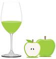 Green apple juice vector image