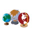 school globes vector image vector image