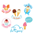Set Of Ice Cream Design Elements Logo And Label vector image