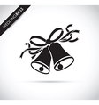 wedding bells black vector image