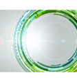 Abstract technology circles and light effects vector image