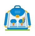 color school bag vector image