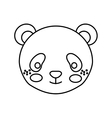 cute little bear panda animal character vector image