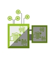 electronic circuit board hardware vector image