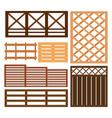 fence design elements vector image
