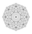 Graphic seashells circle ornament vector image