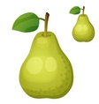 Green pear Cartoon icon isolated on white vector image