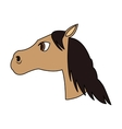 horse cartoon icon vector image