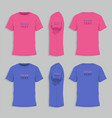 mens tshirt design template vector image