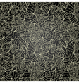 monochrome abstract hand-drawn ornament vector image