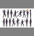 ninja character cartoon funny warriors vector image