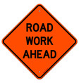 Road Work Ahead Sign vector image