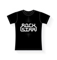 Rock Star - music typography t-shirt graphics vector image