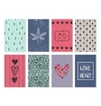 set of love cards posters banners Hand vector image