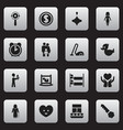 set of 16 editable kin icons includes symbols vector image