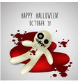 halloween background ghost on blood vector image