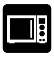 Microwave button vector image vector image