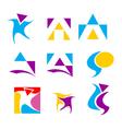 icon design element set vector image