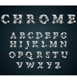 chrome 3D alphabet vector image