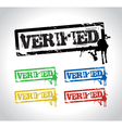 verified sign stamp vector image vector image