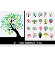 21 tree silhouettes vector image vector image