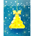 Bright blue Christmas greeting card vector image