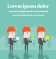 Businessman with time money and ideas vector image