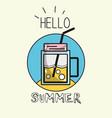 emblem fresh beverage to vacation activity vector image