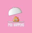 funny cartoon cool cute brown smiling poo vector image